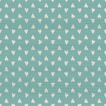 love wallpaper: seamless doodle hearts pattern with fabric texture