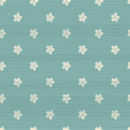 mignon seamless géométrique avec un effet de texture de tissu en bleu délavé Vecteurs