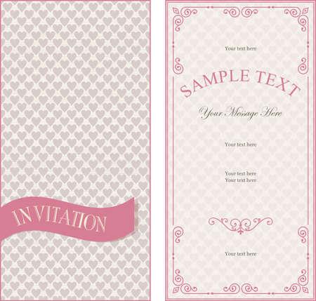 set of invitation cards on vintage background Vector
