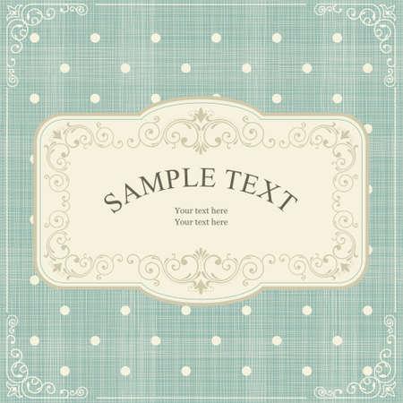 set of invitation cards on vintage polka dots background Vector