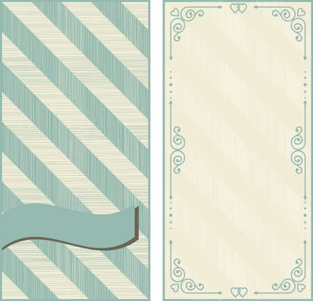 diagonal lines: set of invitation cards on vintage background with diagonal lines