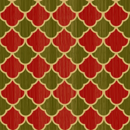 retro wrapping paper for Christmas gifts. Seamless pattern Vector