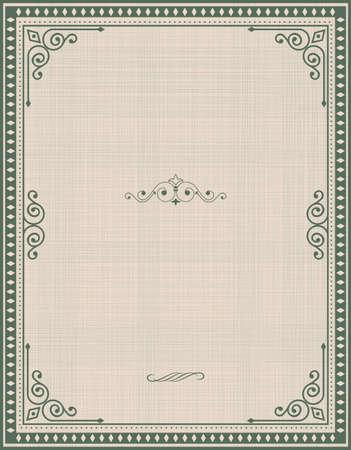 marcos decorativos: Marco de la vendimia en el dise�o retro de fondo Vectores