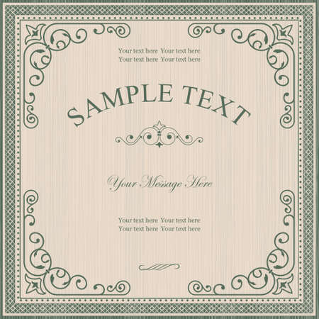 Vintage Frame on Retro Background Design Illustration