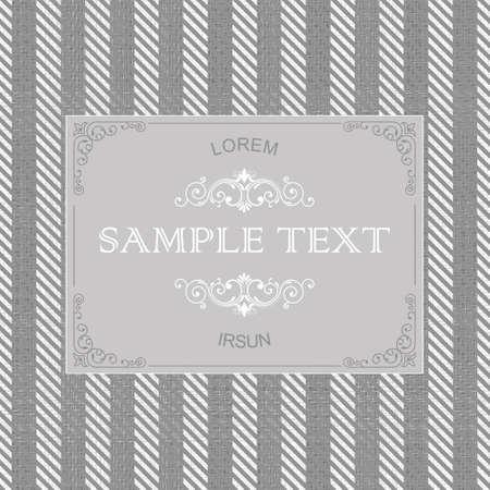 tweed: vintage frame on seamless tweed pattern