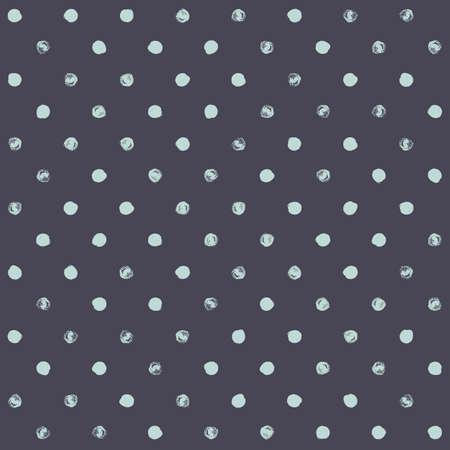 Modelo de lunar sin fisuras. pincel seco pintado círculos con los bordes ásperos. Textura inconformista de moda. Dibujado a mano elegante telón de fondo sin fin. formas verdes sobre fondo gris. diseño de tela, papel pintado, envoltura