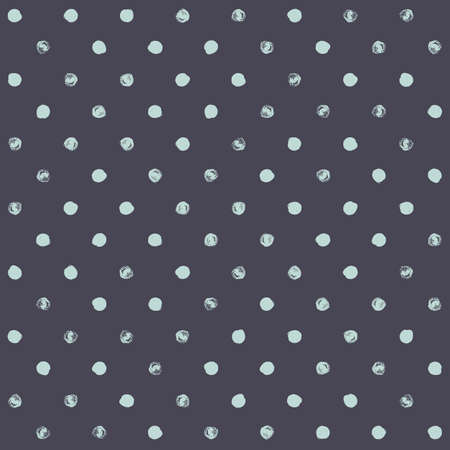 dry cloth: Seamless polka dot pattern. Dry brush painted circles with rough edges. Trendy hipster texture. Hand drawn endless stylish backdrop. Green shapes on grey background. Cloth design, wallpaper, wrapping