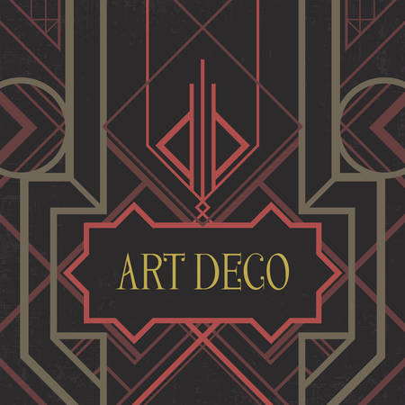 artdeco: Dark artdeco abstract geometric background. Art deco style, trendy vintage design element. Pastel pink and green grill on a black messy backdrop. Decorative template with geometric parallel lines.
