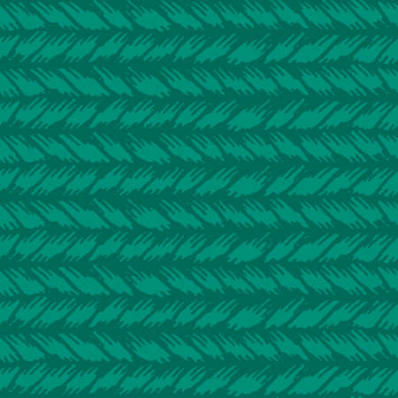 coarse: Decorative knit seamless pattern. Hand drawn endless green knitting ornament. Trendy messy knitwork texture. Vector design for cloth, backdrops, apparel, wrapping, wallpaper
