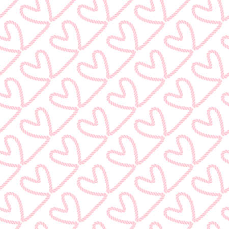 Seamless nautical romantic rope pattern