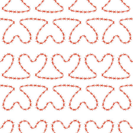 Romantic seamless pattern Illustration