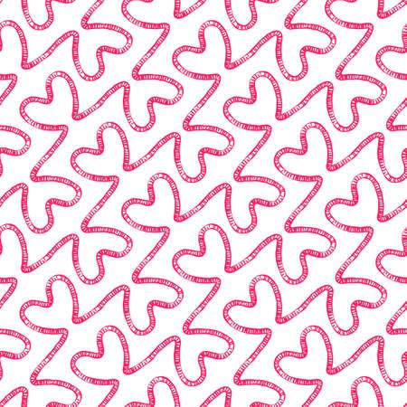 fourteen: Romantic seamless pattern Illustration