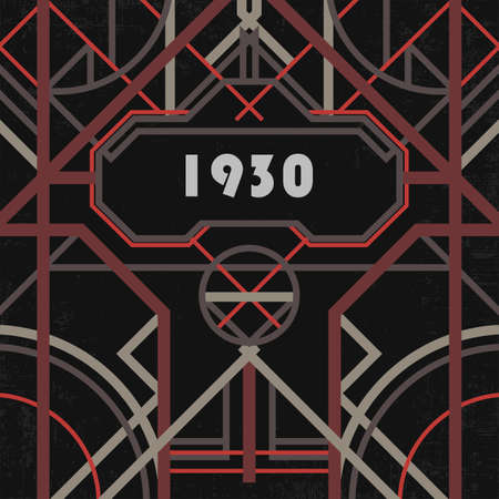 artdeco: Dark artdeco abstract geometric background Illustration