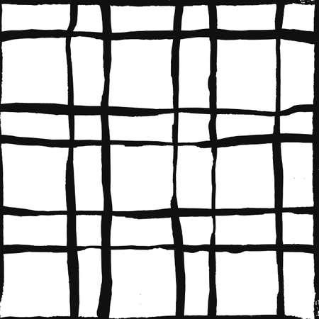 negligent: Trendy hand drawn checkered pattern.