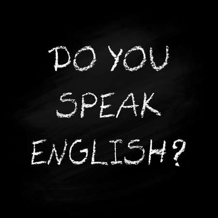 Do you speak English - poster Vettoriali