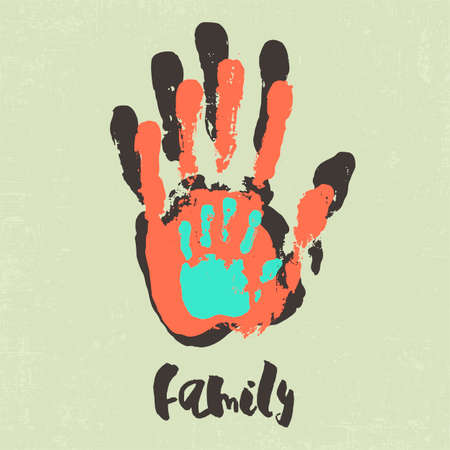 Stylish poster with family handprints.