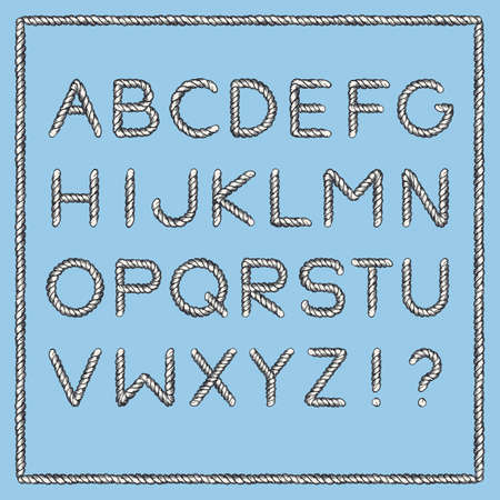 Nautical Rope Font
