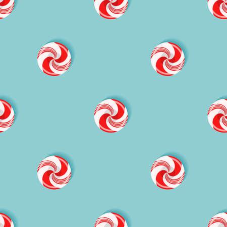 Seamless pattern with sugarplum lollipops Vector illustration.