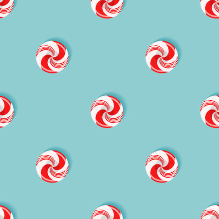 Seamless pattern with sugarplum lollipops Vector illustration.