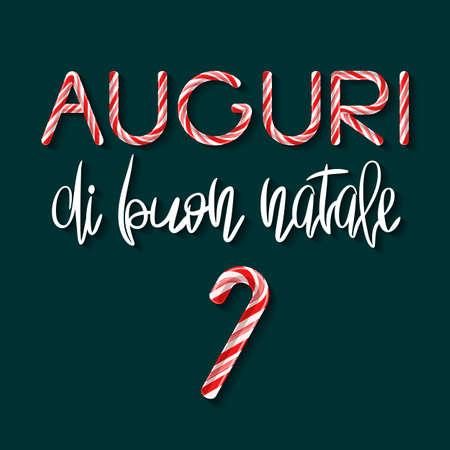 Auguri di Buon Natale lettering - Merry Xmas in italian