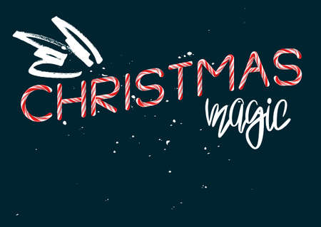 Christmas Magic creative poster template vector illustration