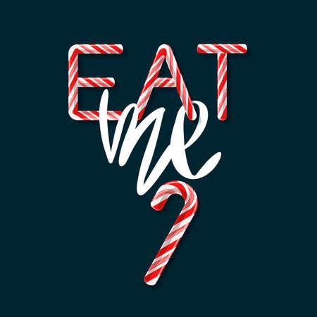 Eat me creative poster template vector illustration Ilustração