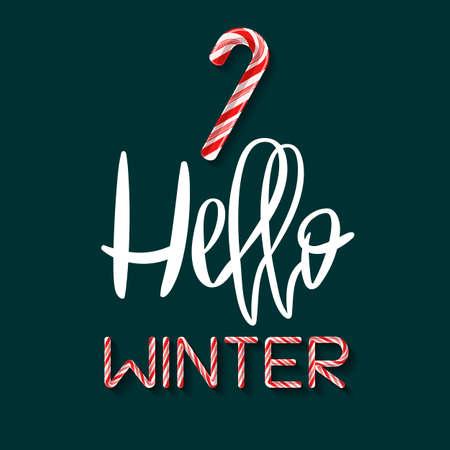 Hello Winter - creative poster Ilustração