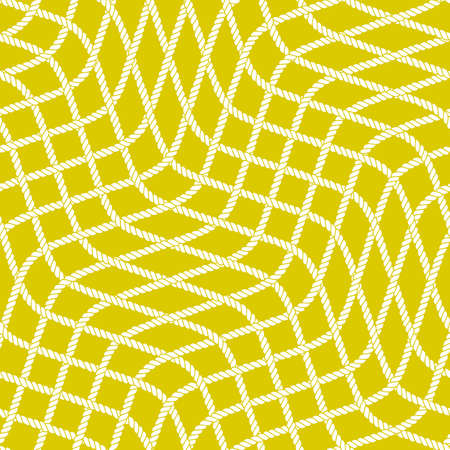 Seamless nautical rope pattern vector illustration.