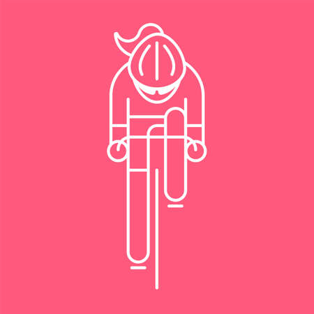 Modern Illustration of woman cyclist Illustration
