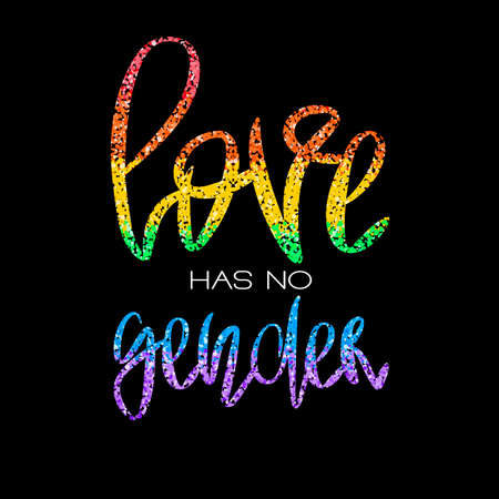 Conceptual poster with rainbow lettering