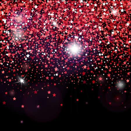 Poster vettoriale decorativo con brillanti stelle glitter