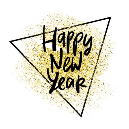Happy 2020 New Year card with hand lettering Illusztráció