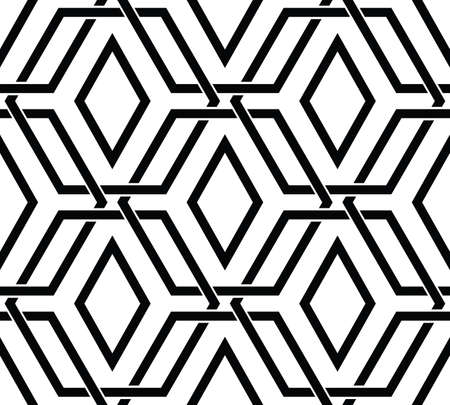 Seamless pattern with black hexagon shapes, vector
