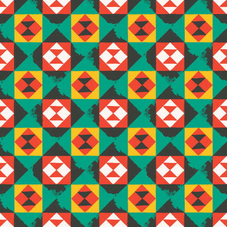 Endless pattern with geometric motif, vector decor Illusztráció