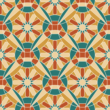 Endless pattern with geometric motif, vector decor Illustration
