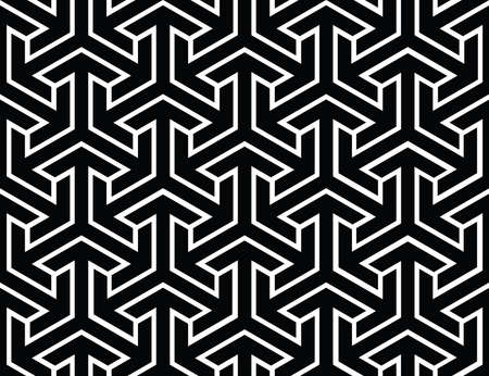 Endless pattern with geometric motif, vector decor Vettoriali