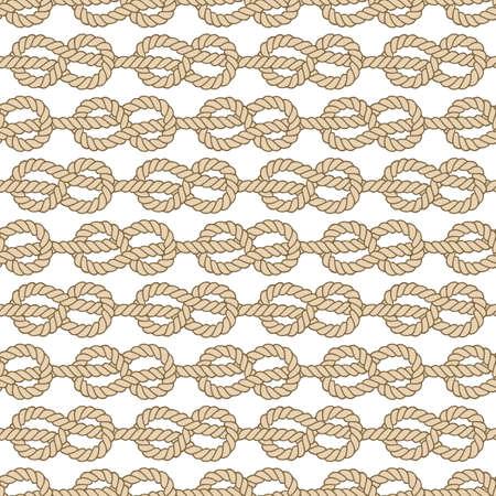 Seamless marine rope pattern, vector figure 8 knot Vettoriali