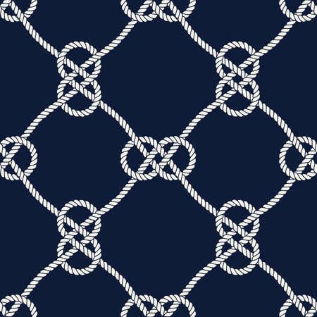 Vector endless nautical rope pattern, hand drawn Vecteurs