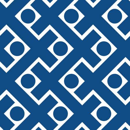 Decorative vector seamless pattern in scandi style Archivio Fotografico - 147016015