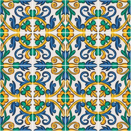 Endless pattern with geometric motif, vector decor Vettoriali