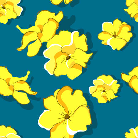 Seamless floral pattern with primroses