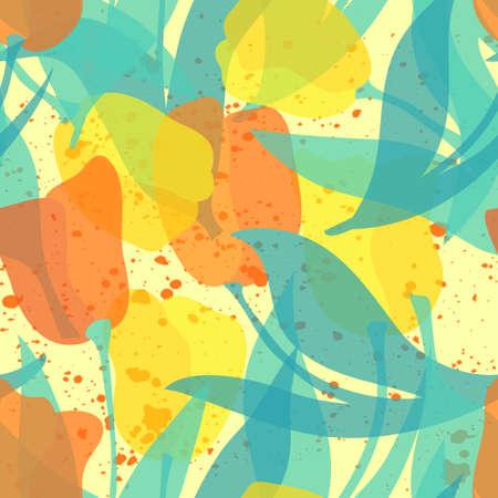 Seamless tulip vector pattern Stock Illustratie