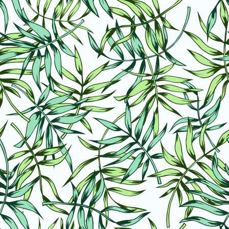 Patrón de hojas tropicales sin fisuras
