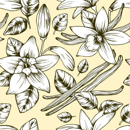 Seamless vector vintage floral pattern