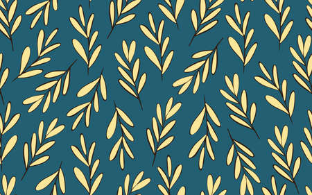 Seamless background with decorative leaves 일러스트