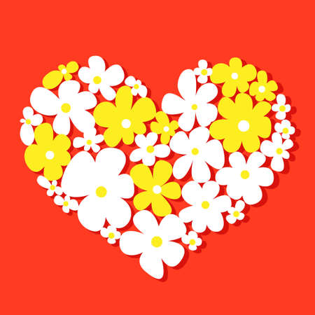 Floral heart for Valentines day Vettoriali