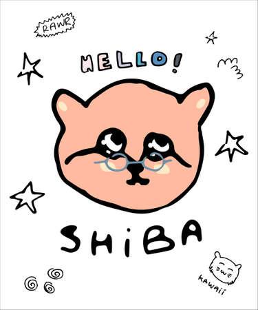 Kitten image shirt design illustration