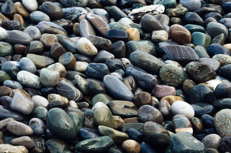 Wet colorful shiny stones. Beautiful natural background image 写真素材