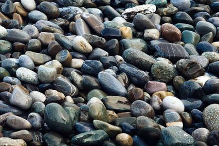 Wet colorful shiny stones. Beautiful natural background image 免版税图像
