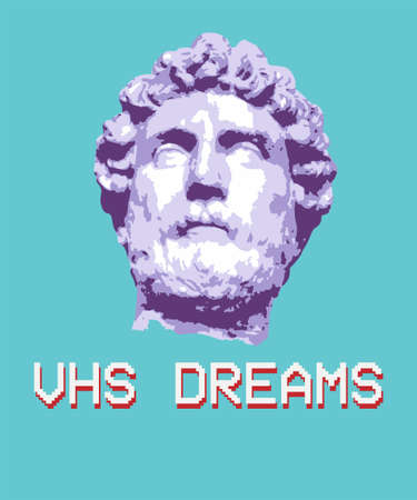 Vaporwave aesthetic t shirt illustration. Typography slogan vector graphic for t shirt printing and clothing. Aesthetic text wallpaper